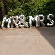 "Folienballon ""Mr & Mrs"", silber"