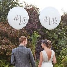 Riesenluftballons Mr & Mrs