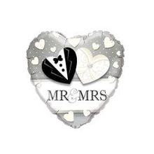 "Folienballon Herz ""Mr & Mrs"""