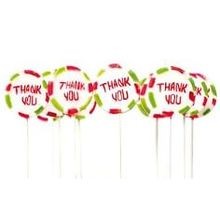 "Gastgeschenk Lolli ""Thank you"""