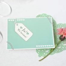 Save the Date Karte Liebe in Mint