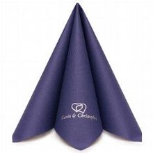 Serviette Airlaid Dinner Royalblau personalisiert