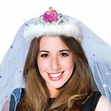 "Tiara ""Bride to be"" mit Schleier"