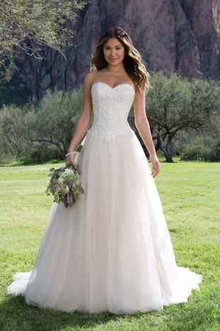 Brautkleid Spitzeund Tüll Sweetheart 1141