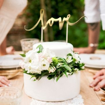 Cake Topper Love Gold