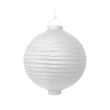 LED Lampion Weiss 20 cm