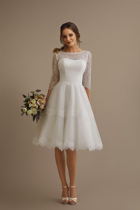 Brinkman short wedding gown