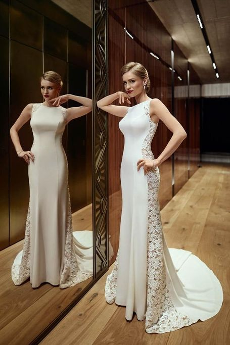Brautkleid fit and flare Pure